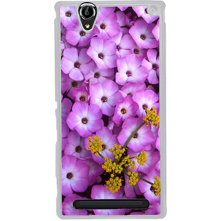 ifasho Pattern colorful flower Back Case Cover for Sony Xperia T2