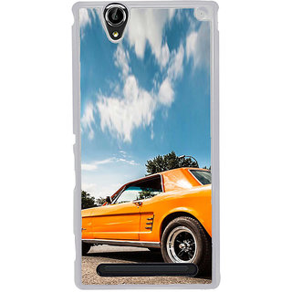 ifasho Orange colour Car Back Case Cover for Sony Xperia T2