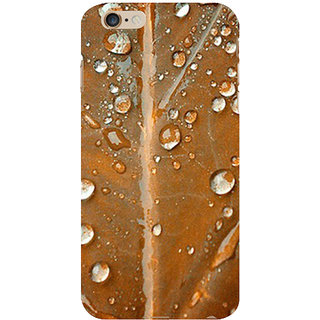 ifasho water Drop on brown leaf Back Case Cover for Apple iPhone 6S Plus