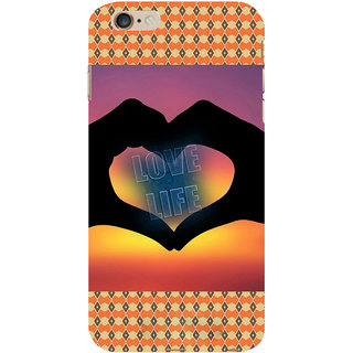 ifasho Love life heart shape made by hand  Back Case Cover for Apple iPhone 6S Plus