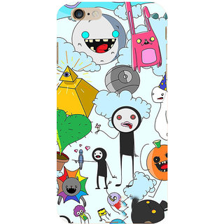 ifasho Cartoon Soft face many cartoons characters Back Case Cover for Apple iPhone 6S Plus