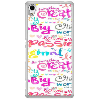 ifasho Motivatinal Quote Back Case Cover for Sony Xperia Z3 Plus