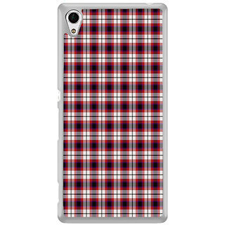 ifasho Colour Full Squre Pattern Back Case Cover for Sony Xperia Z3 Plus