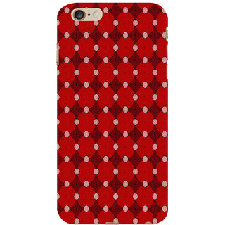 ifasho Design Clourful red and white Circle Pattern Back Case Cover for Apple iPhone 6S Plus
