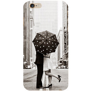 ifasho couple kissing in rain with umbrella Back Case Cover for Apple iPhone 6S Plus