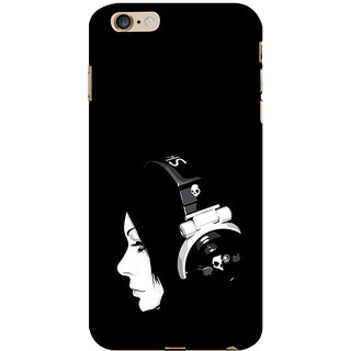 ifasho Girl with headphone Back Case Cover for Apple iPhone 6S Plus