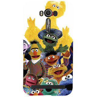 ifasho Cartoon Soft face many cartoons characters Back Case Cover for Asus Zenfone 2 Laser ZE601KL