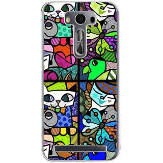 ifasho Modern Art Design Pattern Lot of fish Back Case Cover for Zenfone 2 Laser ZE500KL