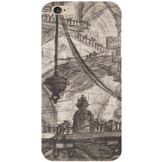 ifasho Modern art painting of city Building  Back Case Cover for Apple iPhone 6S Plus