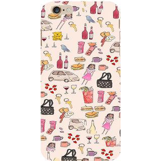 ifasho Modern Art Design Pattern girl shop car food bird Back Case Cover for Apple iPhone 6S Plus