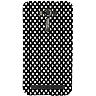 ifasho Modern Theme of white dots in black background Back Case Cover for Asus Zenfone 2 Laser ZE601KL