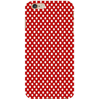 ifasho Animation Clourful white Circle on red background Pattern Back Case Cover for Apple iPhone 6S Plus