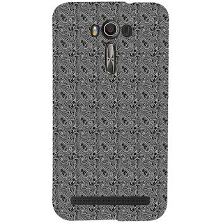 ifasho Animated Pattern design black and white flower in royal style Back Case Cover for Asus Zenfone 2 Laser ZE601KL