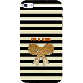 ifasho I am a girl Back Case Cover for Apple iPhone 5