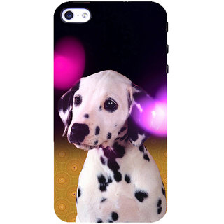 ifasho Black and White Dot Dog Back Case Cover for Apple iPhone 5