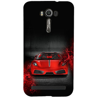 ifasho Stylish RED Car Back Case Cover for Asus Zenfone 2 Laser ZE601KL