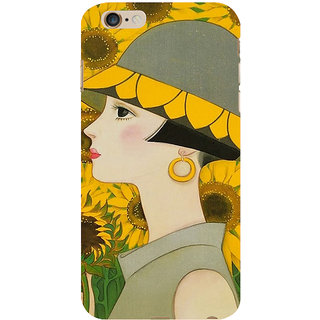ifasho Painted Girl and flower Back Case Cover for Apple iPhone 6S Plus