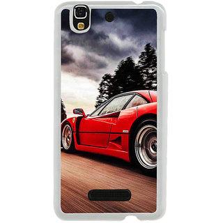 ifasho racing car Back Case Cover for Yureka