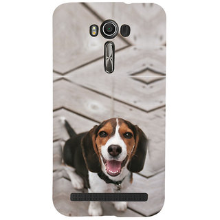 ifasho Grey Dog Back Case Cover for Asus Zenfone 2 Laser ZE601KL