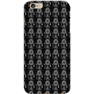 ifasho Animated Pattern With Circles and feathers Back Case Cover for Apple iPhone 6S Plus