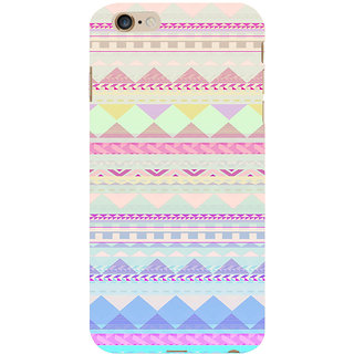 ifasho multi color 3Diangular Pattern Back Case Cover for Apple iPhone 6S Plus