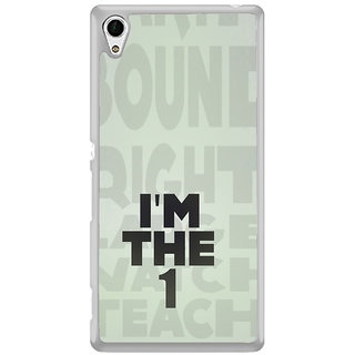 ifasho I am the one good quote on confidence Back Case Cover for Sony Xperia Z3 Plus