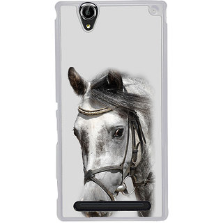 ifasho Designed Painting Horse Back Case Cover for Sony Xperia T2