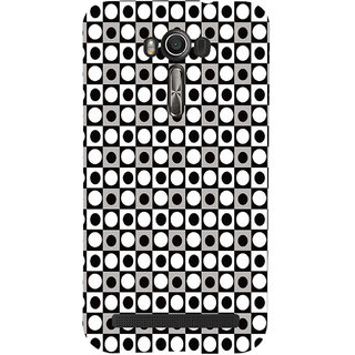 ifasho Modern Theme of black and white dots inside Square Back Case Cover for Asus Zenfone 2 Laser ZE601KL