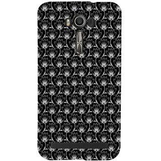ifasho Animated Pattern black and white many lotus flower Back Case Cover for Asus Zenfone 2 Laser ZE601KL