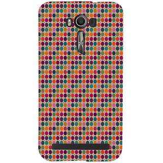 ifasho Animated Pattern  littel and Big colourful Circle Back Case Cover for Asus Zenfone 2 Laser ZE601KL