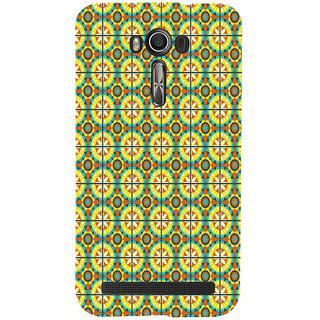ifasho Animated Pattern design colorful flower in royal style with lines Back Case Cover for Asus Zenfone 2 Laser ZE601KL