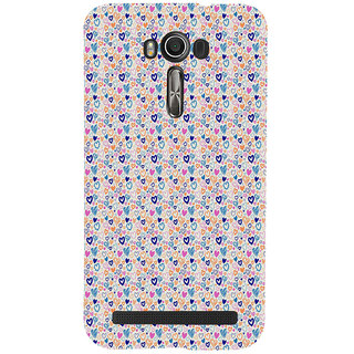 ifasho Modern Art Design Pattern with Lot Of small heart Back Case Cover for Asus Zenfone 2 Laser ZE601KL