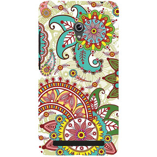 ifasho Animated Pattern colrful design flower with 3Daditional design Back Case Cover for Asus Zenfone 5