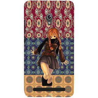 ifasho Dancing girl Back Case Cover for Asus Zenfone 5