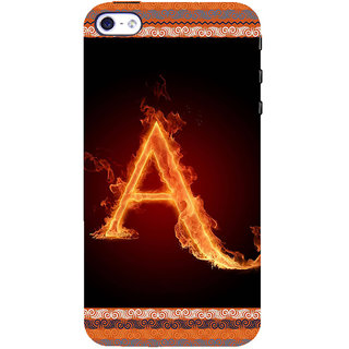 ifasho alphabet name series A Back Case Cover for Apple iPhone 5