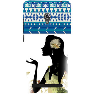 ifasho Girl  with Flower in Hair Back Case Cover for Asus Zenfone 5