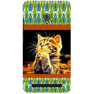 ifasho Cat with big eyes animated designed Back Case Cover for Asus Zenfone 5