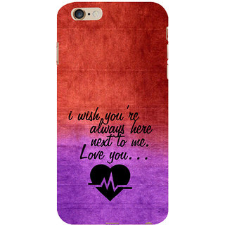 ifasho Love Quote Back Case Cover for Apple iPhone 6S Plus