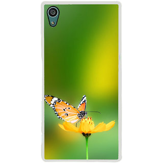 ifasho Butterfly sitting on flower Back Case Cover for Sony Xperia Z5