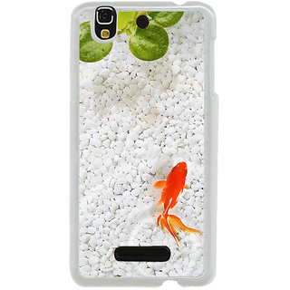 ifasho Fish in water with stone acquarium Back Case Cover for Yureka