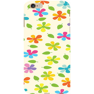 ifasho Animated Pattern flower with leaves Back Case Cover for Apple iPhone 6S Plus