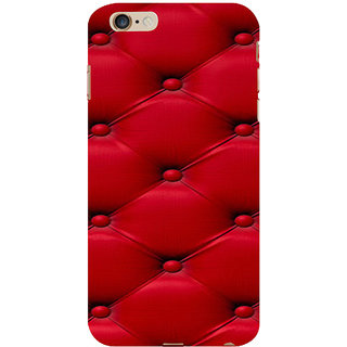 ifasho leather pattern sofa style red colour Back Case Cover for Apple iPhone 6S Plus
