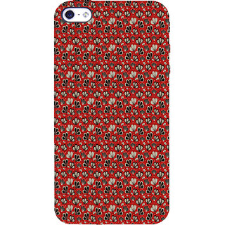 ifasho Modern Art Design animated cloth Pattern of flower Back Case Cover for Apple iPhone 5