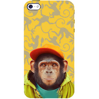 ifasho Monkey with red cap Back Case Cover for Apple iPhone 5