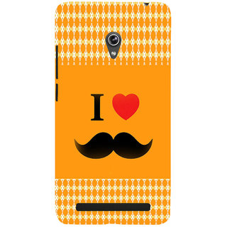ifasho I love Moustache Back Case Cover for Asus Zenfone 6