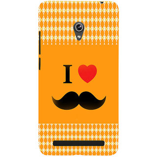 ifasho I love Moustache Back Case Cover for Asus Zenfone 5