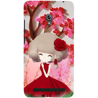 ifasho Girl  with Flower in Hair Back Case Cover for Asus Zenfone 6