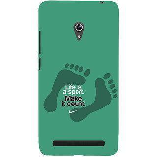 ifasho life Quotes sports quotes Back Case Cover for Asus Zenfone 5