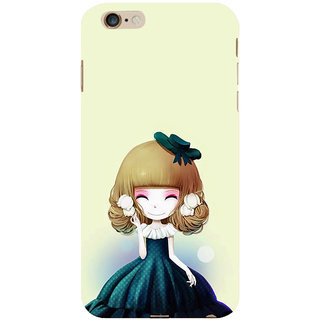 ifasho Winking Girl with green Cap Back Case Cover for Apple iPhone 6S Plus
