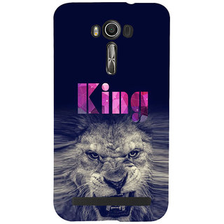 ifasho Angry Lion King Back Case Cover for Asus Zenfone 2 Laser ZE601KL